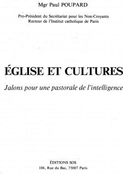 Poupard (1980) Jalons pour une pastorale de l'intelligence