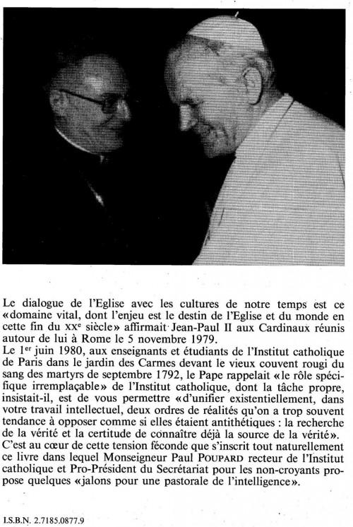 Cardinal Poupard et Jean-Paul II